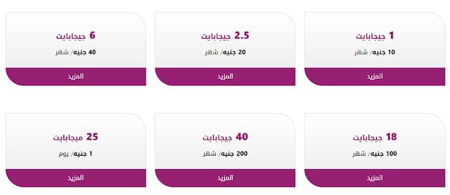 باقات النت لشركة we المصرية للإتصالات
