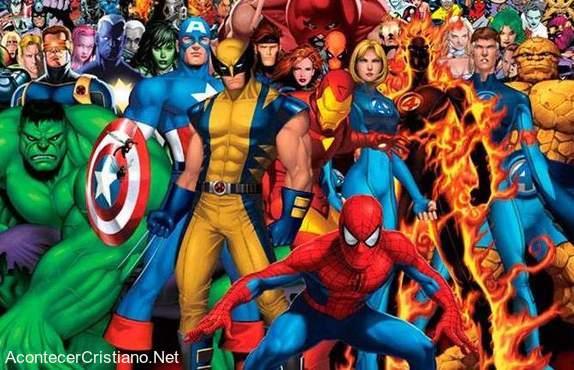 Dibujos animados de superhéroes cristianos