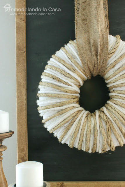 how to make a wreath that's good year round - chalkboard