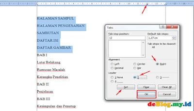 Hindari Cara Membuat Daftar Isi Yang Salah di Ms.Word