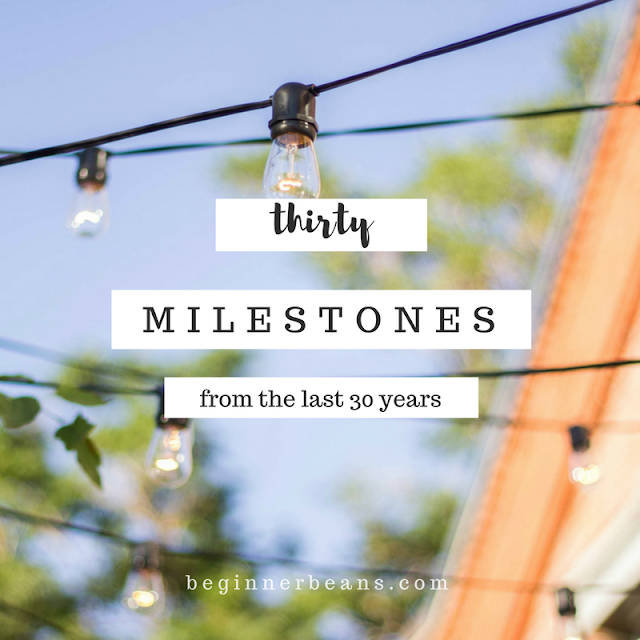 30 Milestones from the Last Thirty Years | What milestones in your life are you celebrating today?