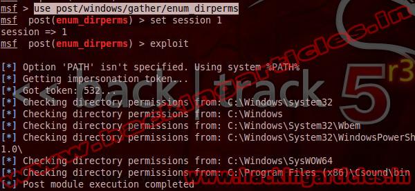 eunum Windows Gather Directory Permissions Enumeration