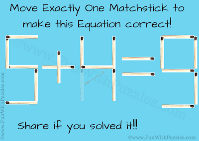 Answer of Reasoning Matchstick Puzzle