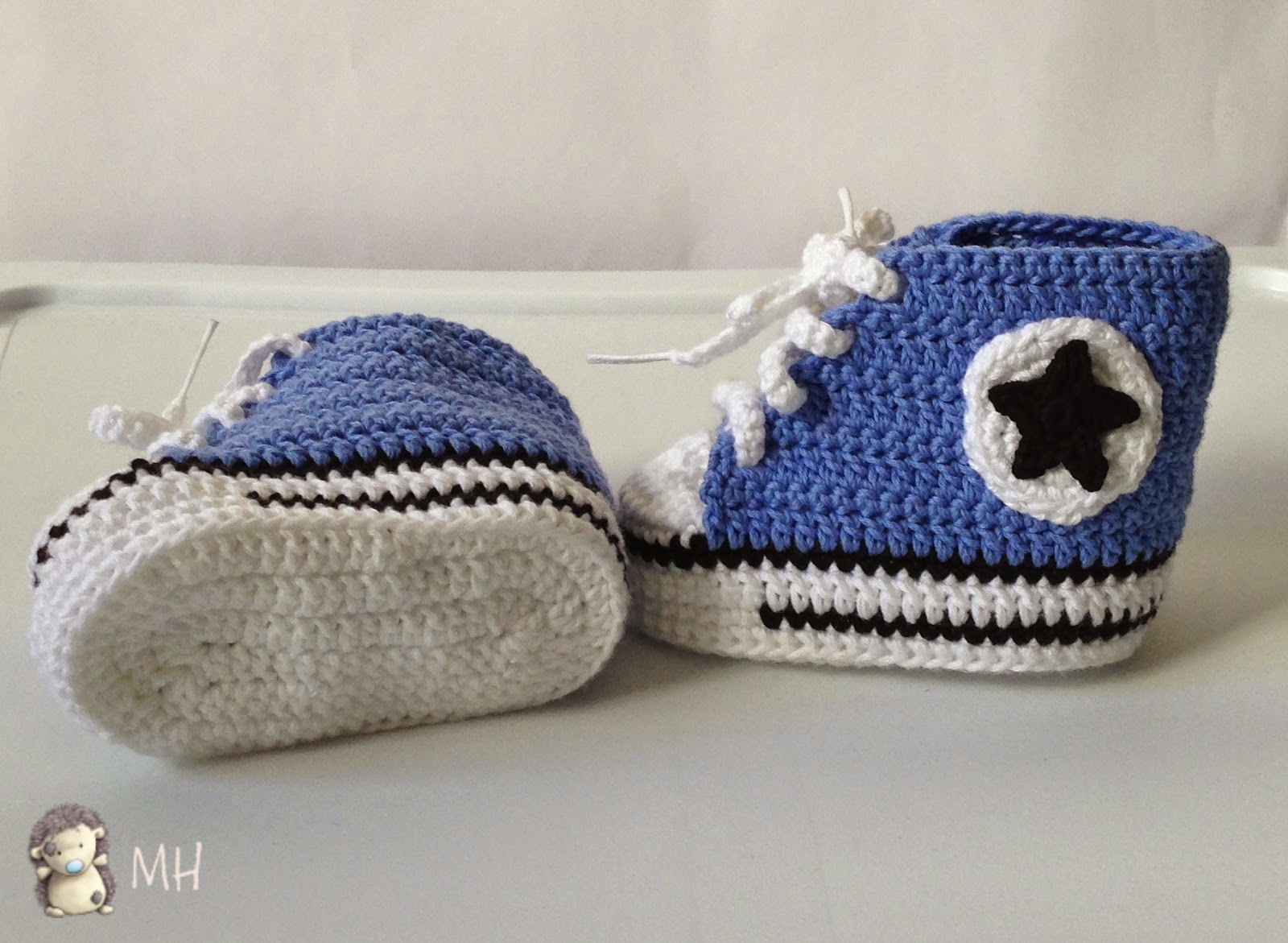Converse a crochet para bebé