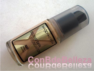 Base de maquillaje Second skin de Max factor