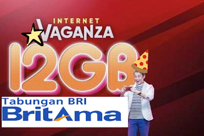 Gratis kuota 12 GB dari BANK BRI promo 2019