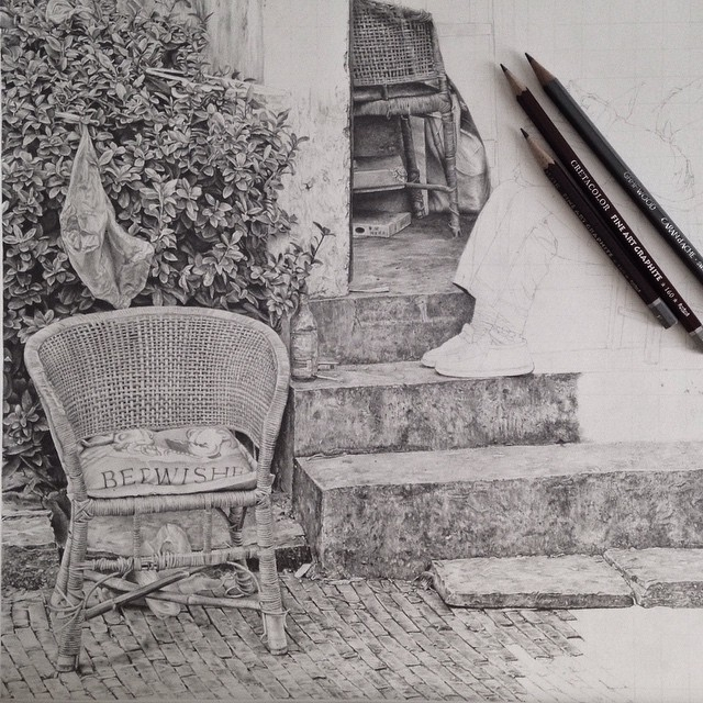 07-Outside-on-a-Sunday-Afternoon-Monica-Lee-zephyrxavier-Eclectic-Mixture-of-Pencil-Wild-Life-and-Portrait-Drawings-www-designstack-co
