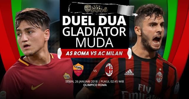 Prediksi AS Roma Vs AC Milan, Senin 26 February 2018 Pukul 02.45 WIB