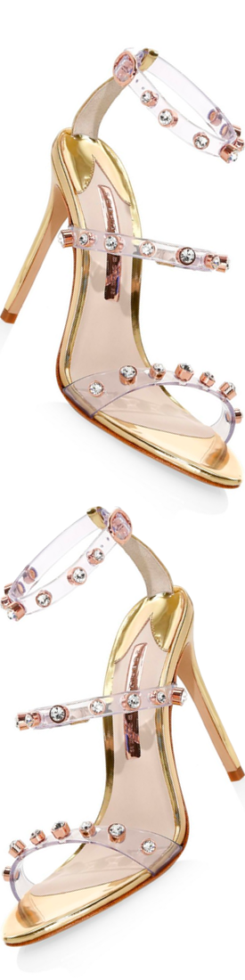 Sophia Webster Rosalind Gem Leather Slingback Sandals