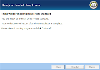 uninstall deep freeze 7