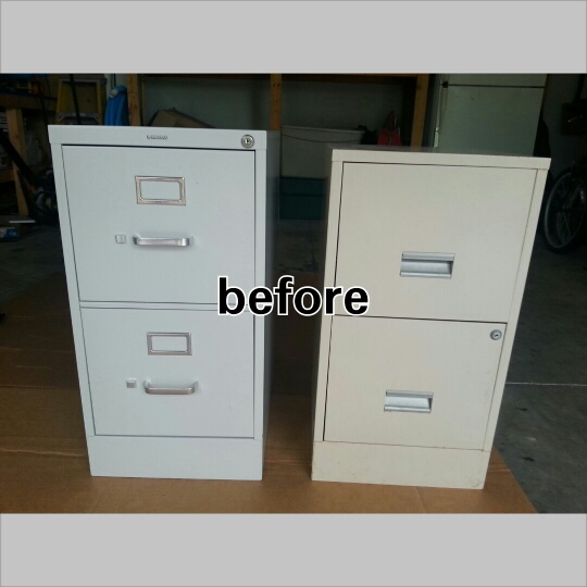 Diy Project Painted Metal File Cabinet