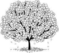דפי צביעה של עצים למבוגרים