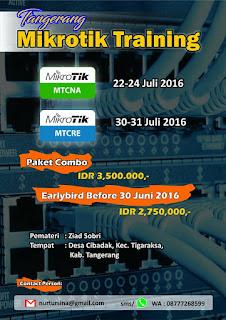 Tangerang Mikrotik Training (TMT) - Paket Combo (MTCNA & MTCRE)