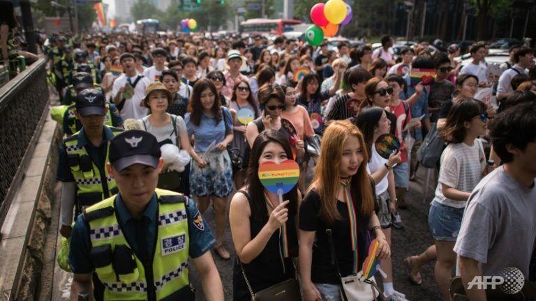 Desfile del Orgullo Gay en Seúl en Corea del Sur