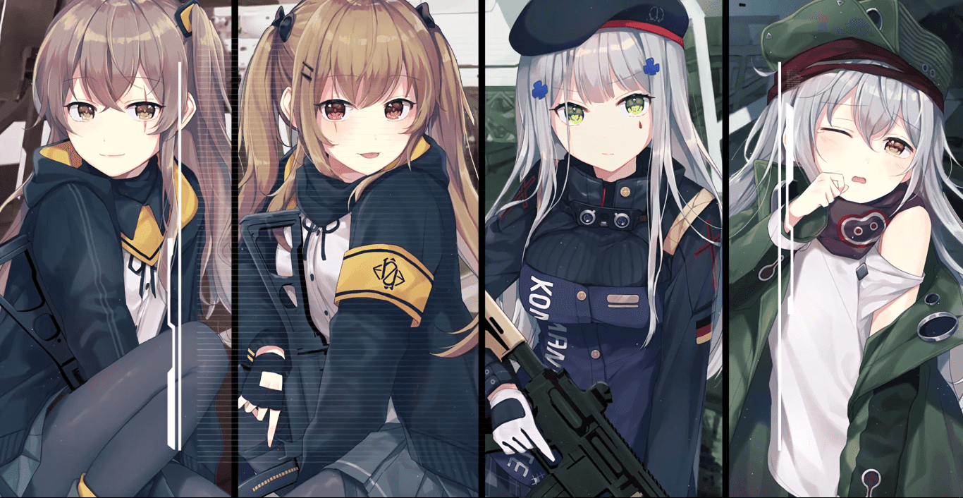 Girls Frontline 少女前线 Squad 404 2k 30fps Wallpaper Engine Anime