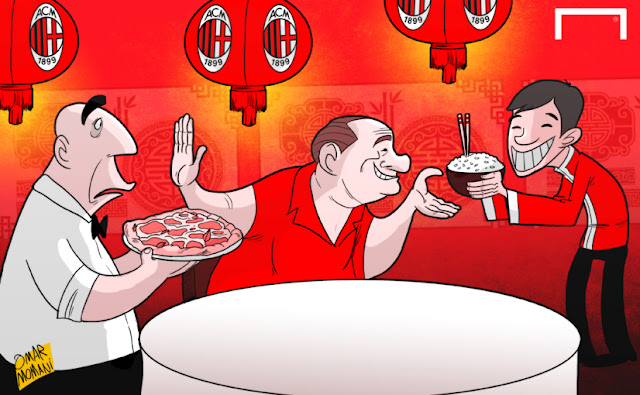 Robin Li, Galliani, Berlusconi, AC Milan, Chinese cartoon