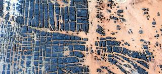 tortura térmica, paisajes abstractos de los desiertos de África, Abstracto Naturalismo, abstractos fotografía desiertos de África desde el aire, el surrealismo abstracto, espejismo en el desierto, expresionismo abstracto,