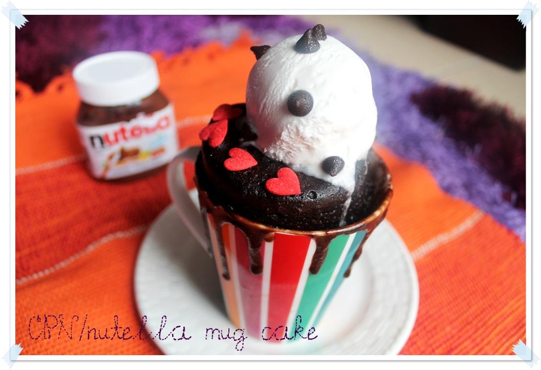 tecik tenit tomel: Nutella Mug Cake..kek coklat yang sangat mudah di sediakan..hanya 2 minit!