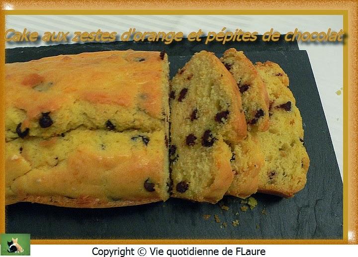 Cake Orange Et Chocolat