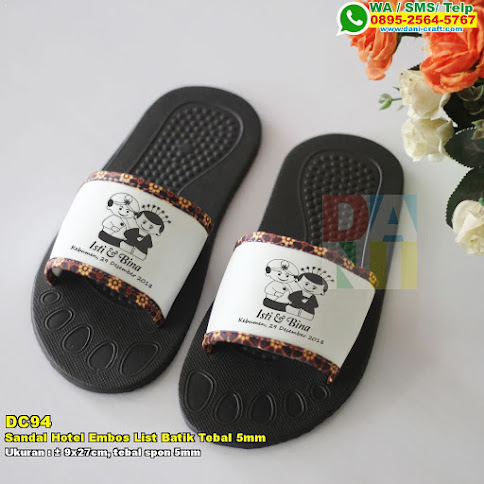 Sandal Hotel Embos List Batik Tebal 5mm