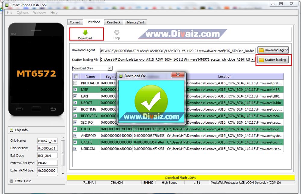 Langkah Flash Ulang Lenovo A316i - www.divaizz.com
