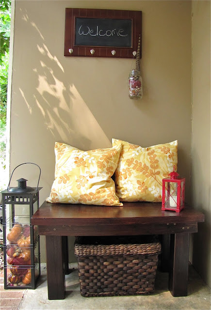 how to make a rustic bench for your front porch