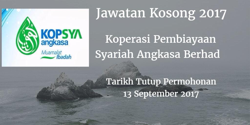 Jawatan Kosong KOPSYA 13 September 2017