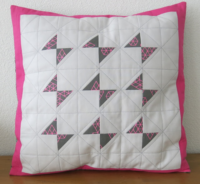 Luna Lovequilts - Butterfly quilted cushion inspired by Krystina of KH Quilts - A beginner friendly class