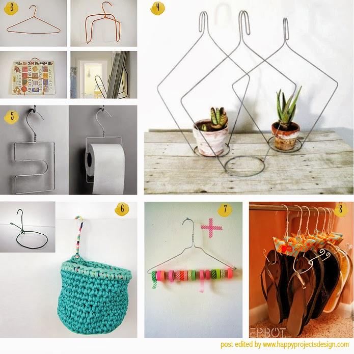 creatividad y reciclaje con perchas