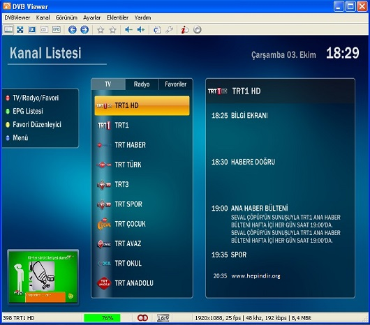 DVBViewer Pro v6.0.3.0 Türkçe Full İndir