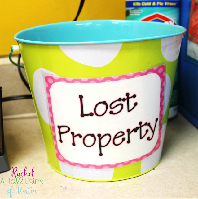 A quick and easy tip for keeping your student's area and classroom clean and not losing your sanity in the process! www.rachelatalldrinkofwater.com