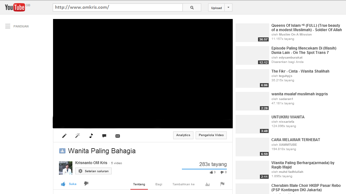 Gambar Youtube Blank