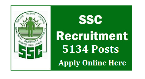 Staff Selection Commission SSC Recruitment Notification 2017 Recruitment Notification from SSC for 5134 Posts Viz Postal Assistants Data Entry Operators Clerks Court Clerks Staff Selection Commission SSC Recruitment Notification 2017 5134 Posts Last Date 25 November 2016