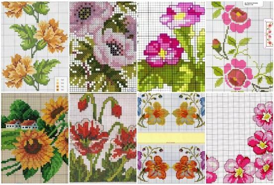 Graficos De Flores Em Ponto Cruz Para Imprimir Como Fazer