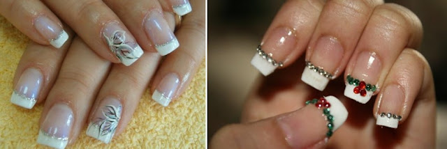 variation of french manicure