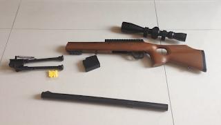 Exterminate plastic airsoft sniper toy gun
