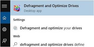 cara disk defragment