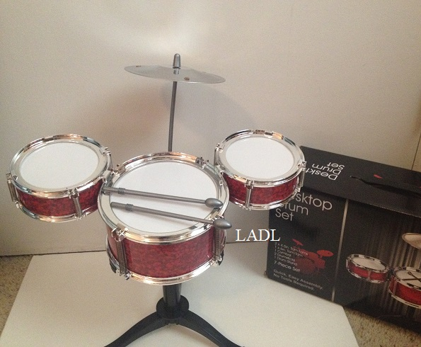 Living A Doll's Life : *REVIEW* Table Top Drum Set - Hobby ...