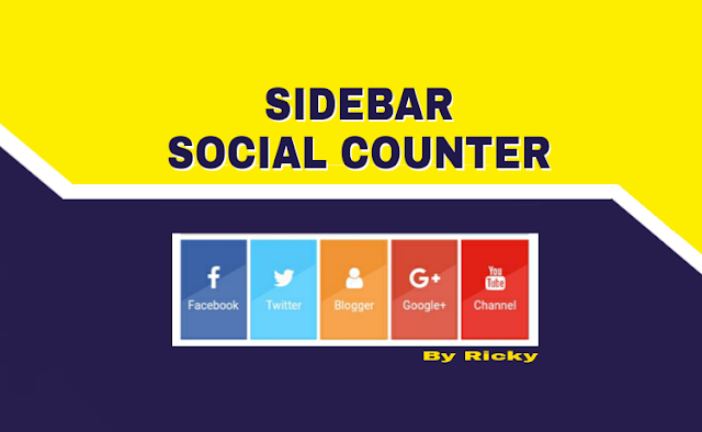 Membuat sosial media counter di blog