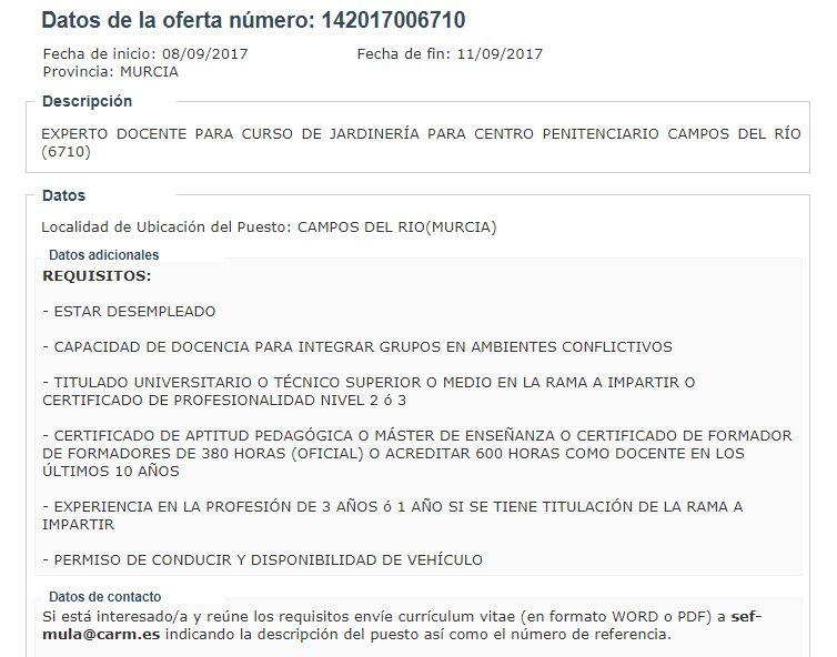 Saldelparoya Noroeste Y R O Mula Murcia 09 08 17