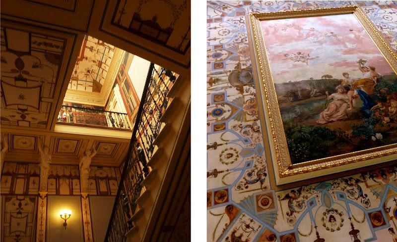 Details aus dem kunstvollen Treppenhaus des Achilleion Palast auf Korfu