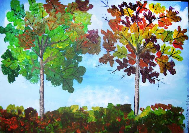 arjona delia, dos árboles