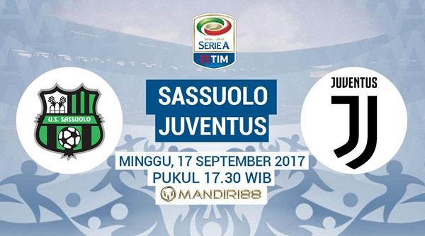 Juventus akan bertandang ke markas Sassuolo pada pertandingan pekan keempat Serie A Berita Terhangat Prediksi Bola : Sassuolo Vs Juventus , Minggu 17 September 2017 Pukul 17.30 WIB