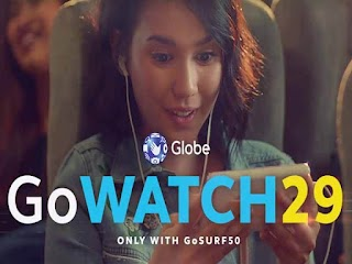 Globe GoWATCH 29 – 2GB Data for 29 Pesos on top of GoSURF50