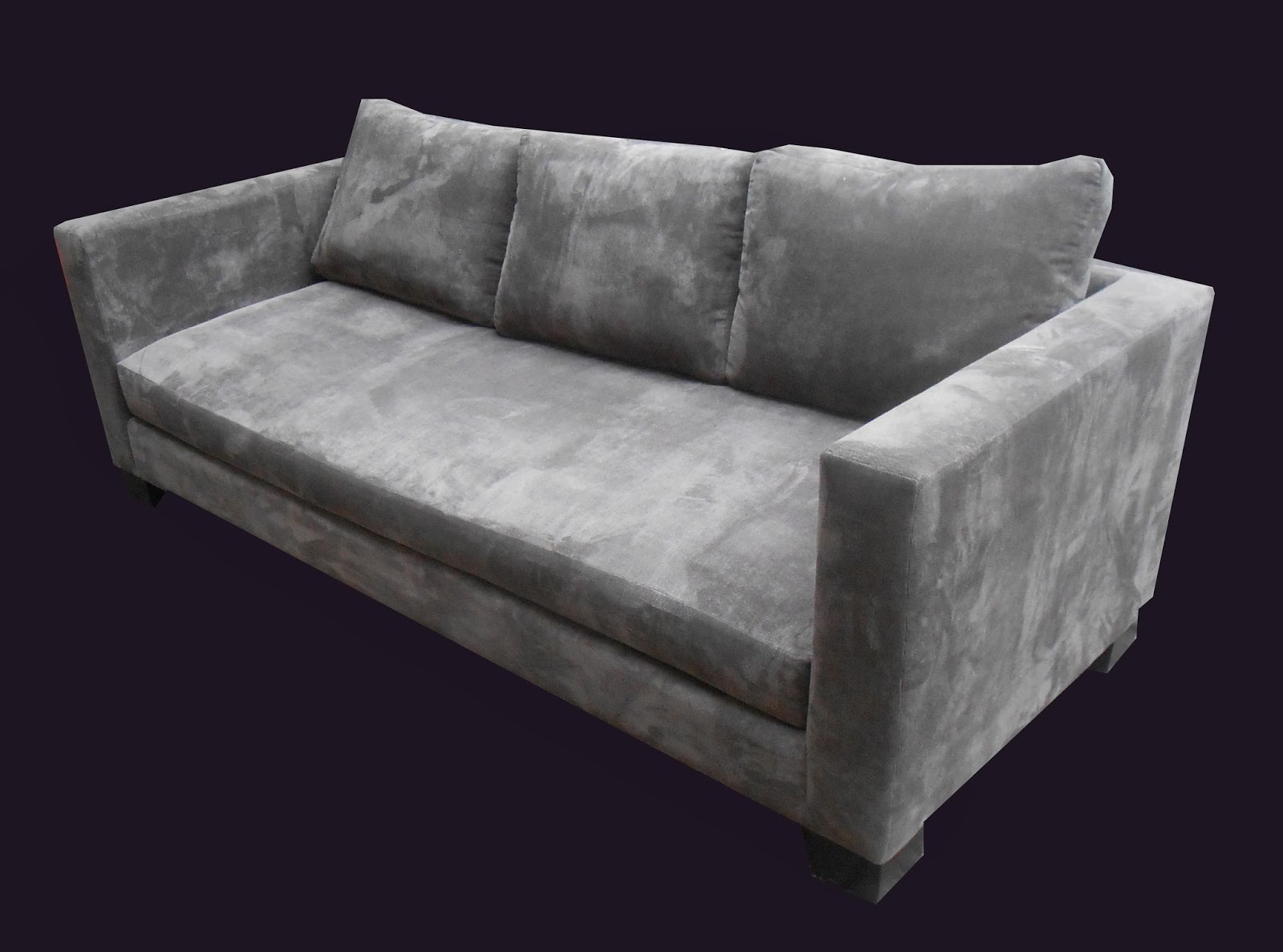 gray velvet slipcover sofa wicker patio sets uhuru furniture and collectibles charcoal grey sold