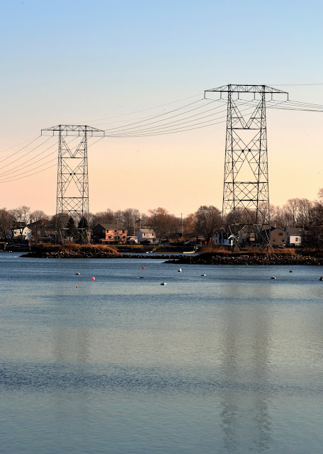 Power Lines, North River, Salem, Massachusetts, electric, towers