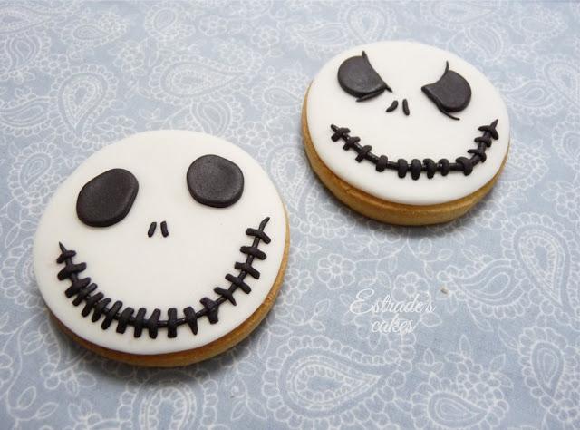 galletas con fondant de Jack Skeleton - 1