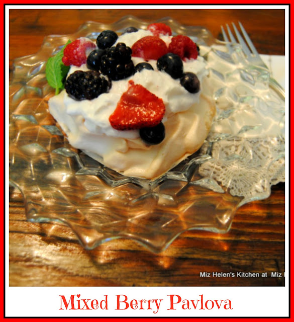 Mixed Berry Pavlova at Miz Helen's Country Cottage
