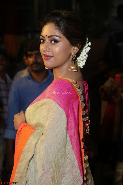 Anu Emmanuel sizzles in khaki saree at Zee Telugu Apsara Awards 2017 02.JPG