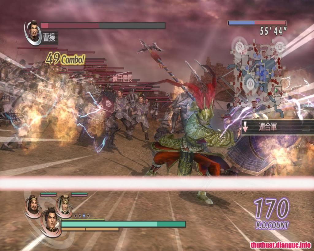cấu hình chơiWarriors Orochi Z